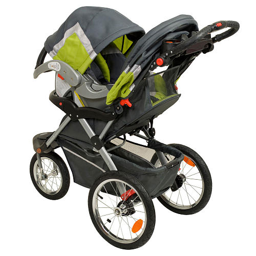 The Baby Trend Expedition Jogger Travel System makes it easy to take your little one on the go while you get your exercise. The stroller rolls along on large bicycle tires and a front swivel wheel that locks into place for when you move at a fast pace/5().