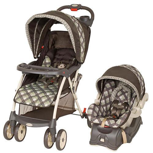 Baby Trend Venture Travel System Monkey Plaid